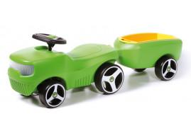 kids ride-on + trailer BFARM, green 361C