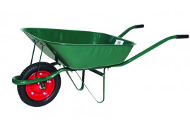 garden wheelbarrow, loading capacity 80 kg capacity of the platform 60 l <br>with inflatable wheel