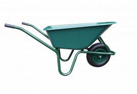 wheelbarrow LIVEX 100 l, inflatable wheel - plastic platform, loading capacity 100 kg