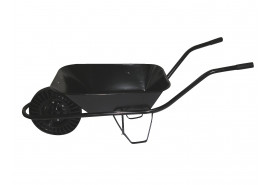 building wheelbarrow 60 l, full rubber wheel - platform spot-weld, loading capacity 100 kg