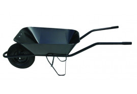 building wheelbarrow 60 l, inflatable wheel - platform spot-weld, loading capacity 100 kg