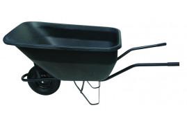 farm wheelbarow 180 l, full rubber wheel - plastic platform blue, loading capacity 100 kg