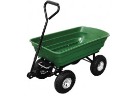 four-wheel handcart, plastic body 75 l, tipping