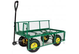 four-wheel handcart, wire body