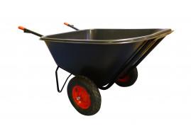 two-wheel wheelbarrow 210 l - plastic platform