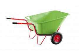 two-wheel farm wheelbarrow 290 l - plastic platform