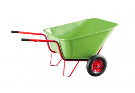two-wheel farm wheelbarrow 290 l - plastic platform