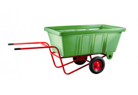 two-wheel farm wheelbarrow 500 l - plastic platform