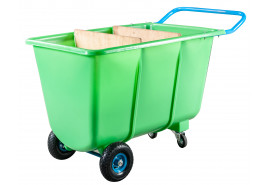 four-wheel handcart 400 L- plastic body