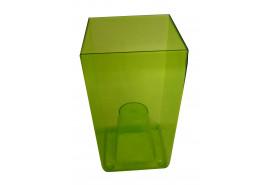 flowerpot case angular, DUW 120P, green, size 120x120x200 mm