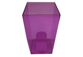 flowerpot case angular, DUW 120P, violet, size 120x120x200 mm