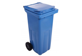 dustbin 120 l black plastic