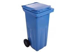dustbin 120 l black plastic
