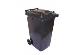 dustbin 240 l black plastic
