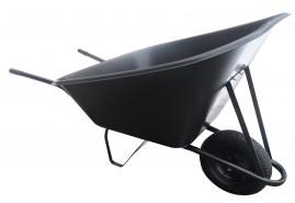 farm wheelbarrow 210 l, inflatable wheel - plastic platform, loading capacity 100 kg