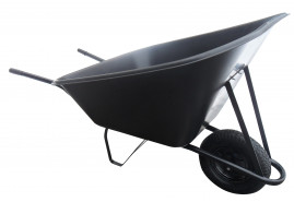 farm wheelbarrow 210 l, inflatable wheel - plastic platform, loading capacity 100 kg