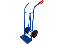 house hand truck, for round containers, inflatable wheel 260mm