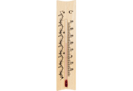 indoor wooden thermometer 185x40 mm
