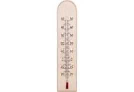 indoor wooden thermometer 230x50 mm