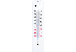indoor/outdoor thermometer PVC 43x200 mm