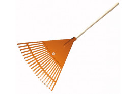 fan-shaped rake, curved, with handle, 20 blades
