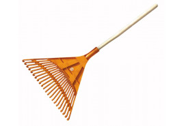 fan-shaped rake, straight, with handle, 22 blades