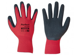 protective gloves 10´ PERFECT GRIP RED