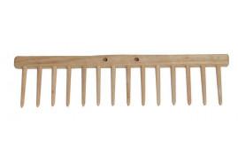 rake bar, 14 wooden tines