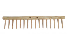 rake bar, 16 wooden tines