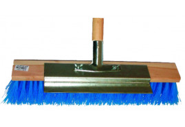 broom with steel scraper