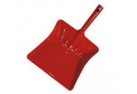 dustpan colored varnish red