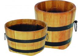 flowerpot wooden (oak), height x diameter 25x25 cm