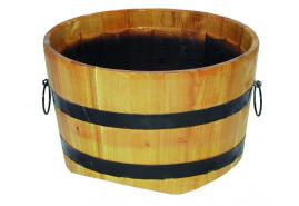 wooden flowerpot (oak), height x diameter 30x50 cm
