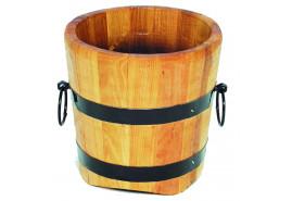wooden flowerpot (oak), height x diameter 40x40 cm