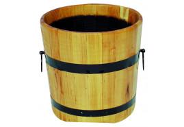 wooden flowerpot (oak), height x diameter 40x50 cm