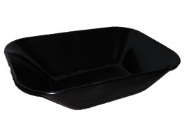 platform for wheelbarrows capacity 60 l, black solid-drawn platform