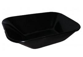 platform for wheelbarrows capacity 60 l, black solid-drawn platform