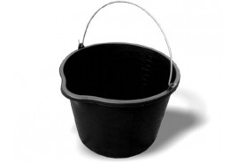 PE building pail 16 l with discharge funnel