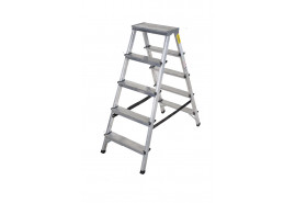 step ladder Al 2x5 double sided