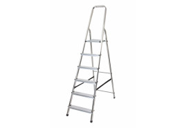 step ladder Al 1x6 one-sided with handle