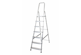 step ladder Al 1x7 one-sided with handle