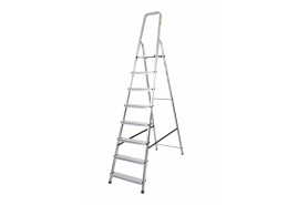 step ladder Al 1x8 one-sided with handle